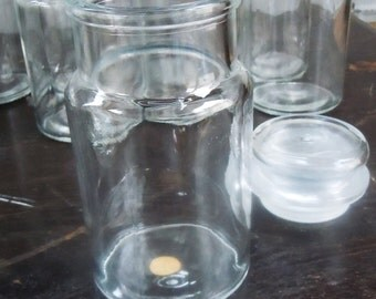 Apothecary Bottles / 8 Piece Set  / Found in Old Storage / Nice Clean Vintage Bottles / Made in Italy