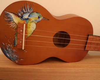 Hand Painted Kingfisher Ukulele