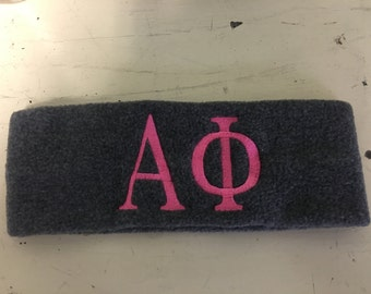 Custom Alpha Phi Greek Sorority Earwarmers