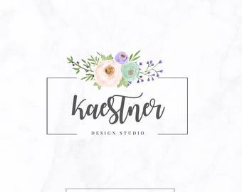 Premade logo - name Logo - Boutique logo - custom logo design - floral logo - luxury logo branding - creative logo - feminine logo- studio