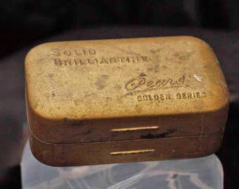Old Advertising Tin Packaging Solid Brilliantine Pears Soap Box