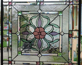 Stained Glass Window Hanging 25 3/4 X 25 3/4