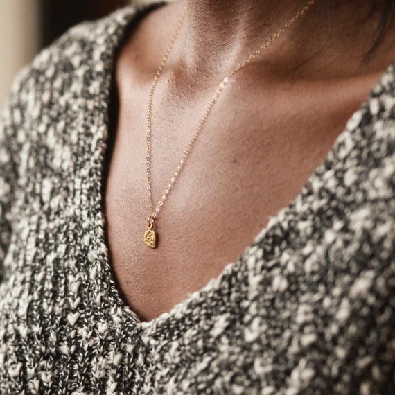 Gold Necklace, Gold Rose Necklace, Gold Necklace For Women, 14K Gold  Chain, Gold Chain For Women, Rose Pendant Necklace, Rose Necklace