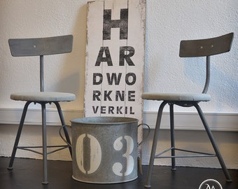 Industrial workbench chairs