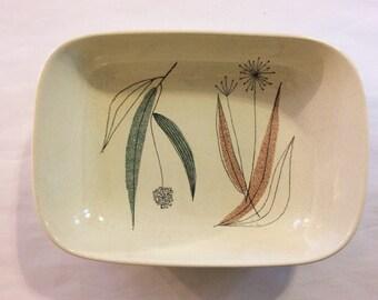 Franciscan Trio Vegetable Serving Bowl Mid-century Esta James Vintage Earthenware
