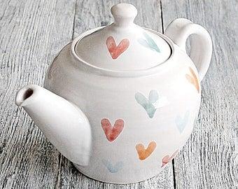 Heart Teapot - Pottery Teapot - Cool Gift For Tea Lovers - Handmade Ceramic Teapot - Handmade Stoneware Teapot - Wheel Thrown Teapot