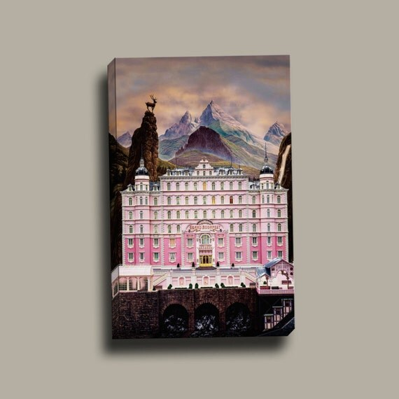 The Grand Budapest Hotel Poster |Mirror Wrap HP Professional Canvas