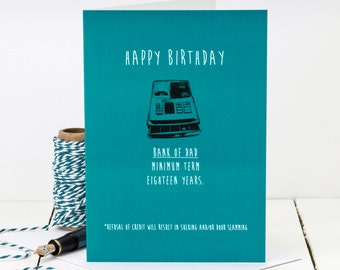 Funny Birthday Card For Dad; Dad Card; Bank Of Dad; Funny Card For Dad; GC409