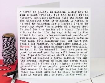 Horses Card; Horse Lovers Card; Love Horses Card; Love My Horse Card; GC146