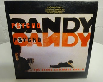 The Jesus And Mary Chain Psycho Candy Record vinyl Lp Rare 1985 Promo Release / Reprise Records/  FREE SHIPPING