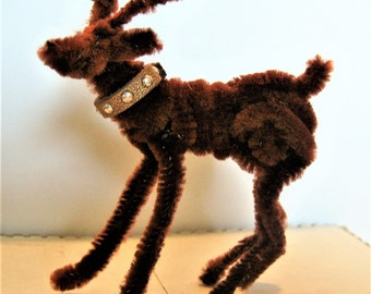 On Sale New Arrival ! Blitzen the Reindeer - Mini Pipe Cleaner Animals