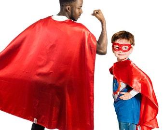 Red Superhero Cape, Kids Superhero Cape, Adult Superhero Cape, Superhero Party Capes, Superman Cape