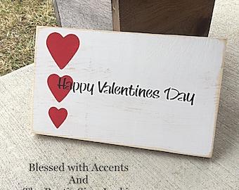 Rustic Valentine's Day decor, Valentine's Day decoration, happy Valentine's Day sign, Valentine's Day sign, wood Valentine's Day sign