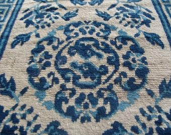 Antique China carpet 158 x 76 cm