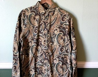 Throwback Paisley Button-Up Shirt