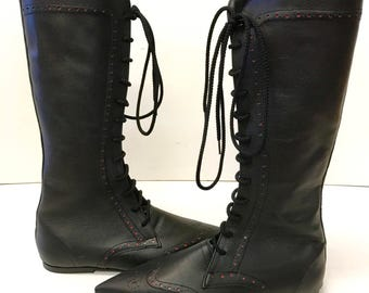Original Pikes- Brogue Knee Length Boot