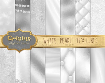 White Pearl Digital Paper, pearl backgrounds, pearl textures instant download printable scrapbook paper, digital wedding pearl necklace