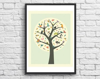 Art-Poster - 50 x 70 cm - Tree of Life - by Jazzberry Blue