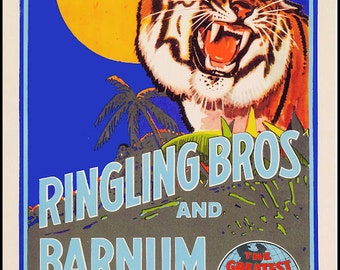 Ringling Brothers Barnum Baily Circus Poster - Ships FREE