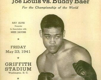 Boxing 1935 Joe Louis vs Buddy Baer Poster 1935