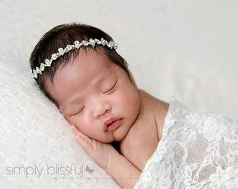 Jewel Headband, , Decorative Headband, Newborn Photo Prop, Baby Headband,