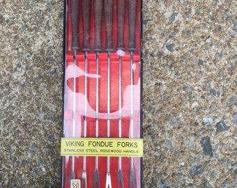 Vintage fondue forks in original package