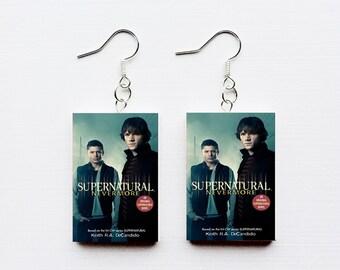 Supernatural mini book earring