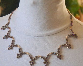 Antique french crystal necklace, 1870s