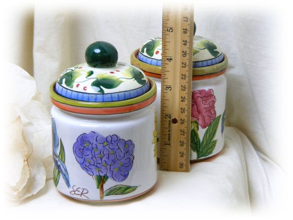 CERAMIC CREAM & SUGAR Keepers