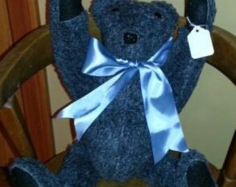 CollectibleVintage Style Gray Teddy Bear