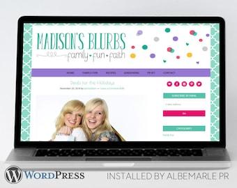 Premade Genesis Framework WordPress Template // Genesis Child Theme // Colorful WordPress Theme  - Madison