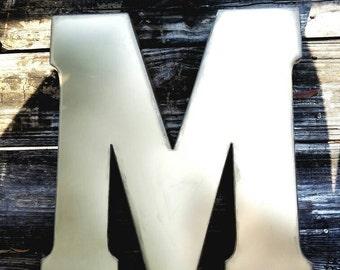 Metal monogram | Etsy