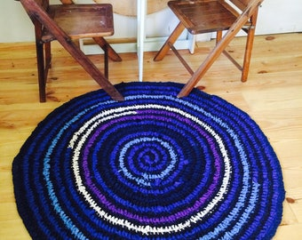 Galaxy crocheted rug