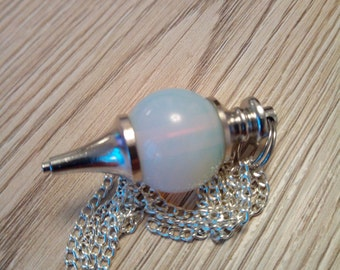 Opal healing crystal pendant necklace