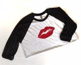 Lips Shirt - Women's Valentine's Day - Women's Lip Shirt - Lips Tee - Relaxed Fit Women's Shirt - Lipstick Shirt - Women's Shirt - Red Lip