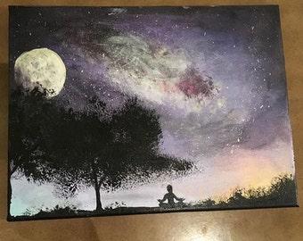 Yoga Galaxy Painting