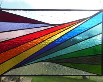 Rainbow Twist - Stained Glass panel