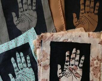 Hand Study, Silkscreen Patches