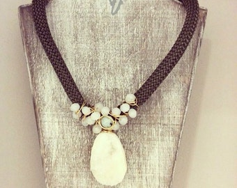 Thick Rope Drusy Necklace