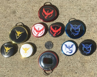 Pokémon Go Team Trainer Buttons and Keychain Packs!