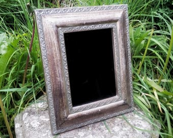 Scrying mirror, black mirror, divination mirror, Witches mirror, Wheel of Fortune, divination tools, gypsy glass, pagan altar tools,