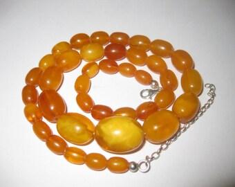 Antique Butterscotch 100% Natural Baltic Amber necklace - ca. 21g  老琥珀