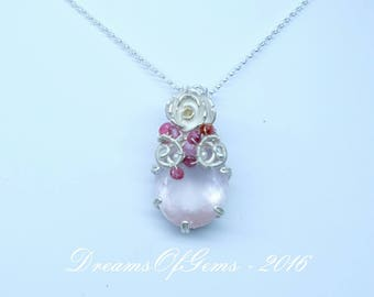 Rose Teardrop Pendant