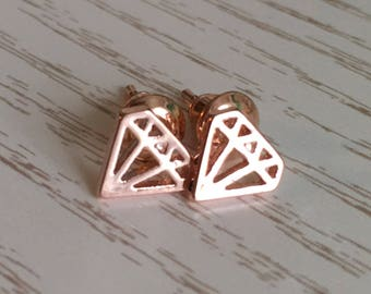 Earrings diamond Rosé gold