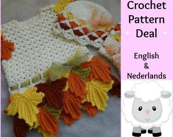 Free English Baby Crochet Patterns : 3 English Dutch Crochet Patterns Baby Set Daisy: Dress