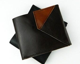 Men's Leather Wallet, brown, dark brown, genuine leather
