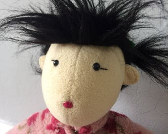 Vintage Doll-Moulin Roty-Rag doll-Ting Ting-Limited Edition-French Doll-Collectible-Gifts for her