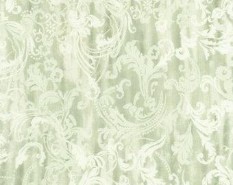 Veranda Sage Scroll Fabric by Timeless Treasure