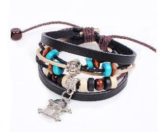 Custom Bracelet, Personalized Bracelet, Leather Bracelet
