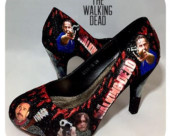 The walking dead custom wedding prom party cosplay womens shoes